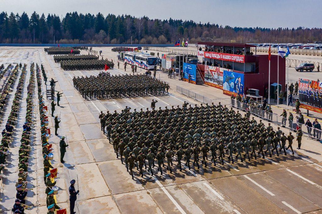 Минобороны показало кадры с репетиции парада Победы